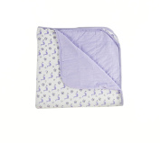 Kyte BABY Unisex Baby Printed Baby Blanket 1.0 tog One Size Lilac/Garden