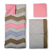 VTS Trend Lab 3pc Crib Bedding Set - Cocoa Coral