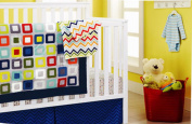 New 4pcs Baby Boy Crib Bedding Set (without bumpers)