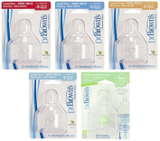 Dr. Brown Nipple Set - Natural Flow Wide Neck Bottle Nipples