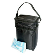 JL Childress - Black Six Bottle Cooler,Insulated main pocket