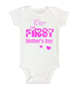 "Kids Onesie ""Our First MOTHERS DAY"" Cute Mothers Day Gift RB Clothing Co"
