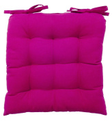 vanki Soft Chair Cushion / Pad - 36cm x 36cm , Hot Pink