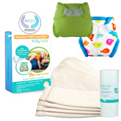 Tidy Tots Nappy Hassle Free 4 Nappy Hook & Loop Essential Set With TweetHart and Bright Green