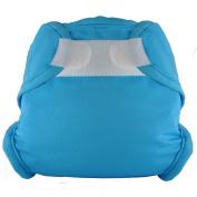 Tidy Tots Nappies Hassle Free Aqua Blue Hook & Loop Nappy Cover O/S
