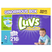 Luvs Ultra Leakguards Nappies, Size 2, 216 Count