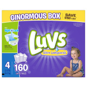 Luvs Ultra Leakguards Nappies, Size 4, 160 Count