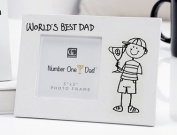 World's Best Dad, 3x3 Photo Frame, Choice of two Designs