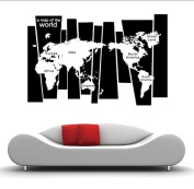 """""""A Map of the World"""" World Map Wall Art Wall Decal"""