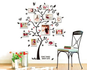 Something about Love Elegant Flower Vine Memory Tree with Flying Butterflies Photo Fames Wall Decal for Living Room Wedding Room Bedroom