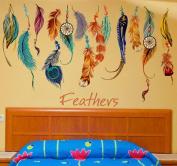 CoperTM Classic Creative Dream Catcher Feather Wall Sticker Art Decal Mural -Home Decor