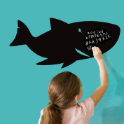 Shark Pattern Blackboard Writing Board Wall Decal Home Sticker PVC Murals Vinyl Paper House Decoration Wallpaper Living Room Bedroom Kitchen Art Picture DIY for Children Teen Senior Adult Nursery Baby