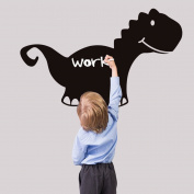 Dinosaur Blackboard Writing Board Wall Decal Home Sticker PVC Murals Vinyl Paper House Decoration Wallpaper Living Room Bedroom Kitchen Art Picture DIY for Children Teen Senior Adult Nursery Baby