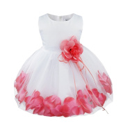iEFiEL Babys Infants Girls Floating Petals Wedding Birthday Party Flower Dress