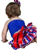 4th July Dress Blue Tube Top RWB Stars Stripe Baby Skirt Outfit Set 3-12m
