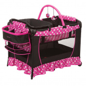 Disney Baby Sweet Wonder Play Yard Minnie Pink Polka Dot Ruffle Pack'n'Play Bassinet