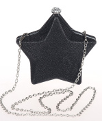Star Shape Small Evening Clutch Purse Hard Shell Box Clutch Party Bag