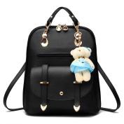 Hynbase Women's Summer Cute Korean Leather Student Bag Backpack Shoulder Bag