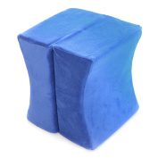 Milliard Contour Memory Foam Leg and Knee Pillow with Ultra Soft Blue Velour Removable Cover