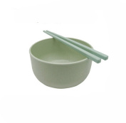 Eforstore Children Student Larger Wheat Straw Heat Insulation Soup Bowl and Chopstick Set