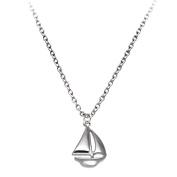 Sailboat Necklace 46cm Chain SilverTone by Cape Cod Jewellery-CCJ