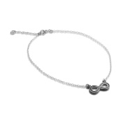Azaggi Sterling Silver Handcrafted Infinity Anklet