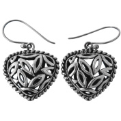 Bali Handmade 925 Sterling Silver PAdian Scrollwork French Wires Earrings