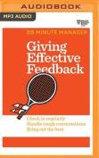 Giving Effective Feedback  [Audio]