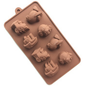 Always Your Chef Chocolate/Candy Making Moulds Silicone DIY Moulds Ice Cube Trays, Great Moulds for Making Jello/MINI Cupcake,Car/Boat/Plane Shaped