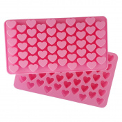 Always Your Chef 2 Pack 55-Cavity Silicone Candy Moulds/Chocolates Moulds/Ice Cube Trays, MINI Heart Shaped, Random Colour