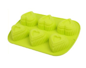 Always Your Chef Silicone Cupcake Baking Cups Handmade Soap Moulds, Candy Moulds & Chocolates Moulds & Ice Cube Trays, Creative Heart Shaped, Random Colour