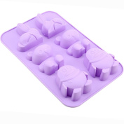 Always Your Chef 6-Cavity Silicone Baking Cups Handmade Soap Mould, Candy Moulds & Chocolates Moulds & Ice Cube Trays, Rabbit/Bear/Penguin Shaped, Random Colour