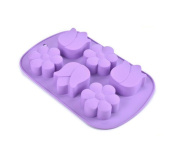 Always Your Chef 6-Cavity Silicone Baking Cups Handmade Soap Mould, Candy Moulds & Chocolates Moulds & Ice Cube Trays, Muffin Cups Flowers Shaped, Random Colour