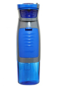 Contigo AUTOSEAL Kangaroo Water Bottle with Storage Compartment, 710ml, Blue