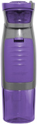 Contigo AUTOSEAL Kangaroo Water Bottle with Storage Compartment, 710ml, Purple