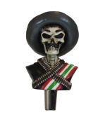 Zapata Mexican Kegerator Beer Tap Handle Home Bar Zombie Skull