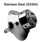 Draught Warehouse 4.4cm Long Beer Nipple Shank, Stainless Steel (SS304) with Stainless Steel Flange, 1.3cm Bore