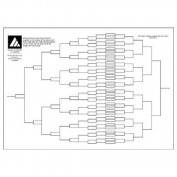 Double Elimination Sports Tournament Wall Chart - 128 Players