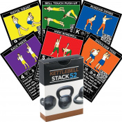 Kettlebell Exercise Cards by Strength Stack 52. Kettlebell Workout Playing Card Game. Video Instructions Included. Learn Kettle Bell Moves and Conditioning Drills. Home Fitness Training Programme.