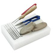 Yosoo Needle Felting Starter Kit Wool Felt Tools Mat + Scissors + Needle Craft Kit