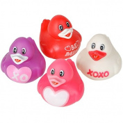 Valentine Rubber Ducks - 12 per pack