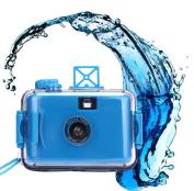 Fullkang Underwater Waterproof Mini 35mm Film Automatic Miniature Camera Purple Blue