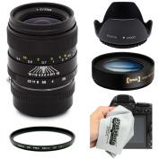Oshiro 35mm f2 Wide Angle Full Frame Prime Lens with Hood, UV, 10x Macro for Sony NEX E-Mount a7r, a7s, a7, a6000, a5100, a5000, a3000, NEX-7, NEX-6, NEX-5T, 5N, 5R and 3N Digital Cameras