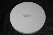 LA Crafts Brand 18cm x 2.5cm Smooth Foam Craft Disc - 12 Pack
