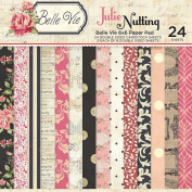 Photo Play Paper BV2211 Julie Nutting Belle Vie Double-Sided Paper Pad (24 Pack), 15cm by 15cm , Multicolor