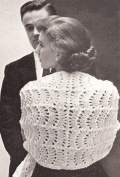 Vintage Knitting PATTERN to make - Knitted Lace Stole Shawl Evening Wrap. NOT a finished item. This is a pattern and/or instructions to make the item only.
