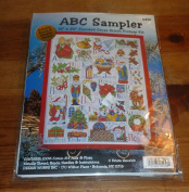 Tobin Christmas ABC Sampler Counted Cross Stitch Kit 41cm x 50cm 14 Count DW5458