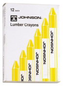 Johnson Level & Tool Lumber Crayons, Yellow, 12-Pack #3512-Y