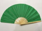 Plain Green Bamboo Kung Fu Tai Chi Training Fan USA Seller