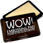 Wow Embossing Powder WV02 Ultra Slow Drying Ink Pad, Clear